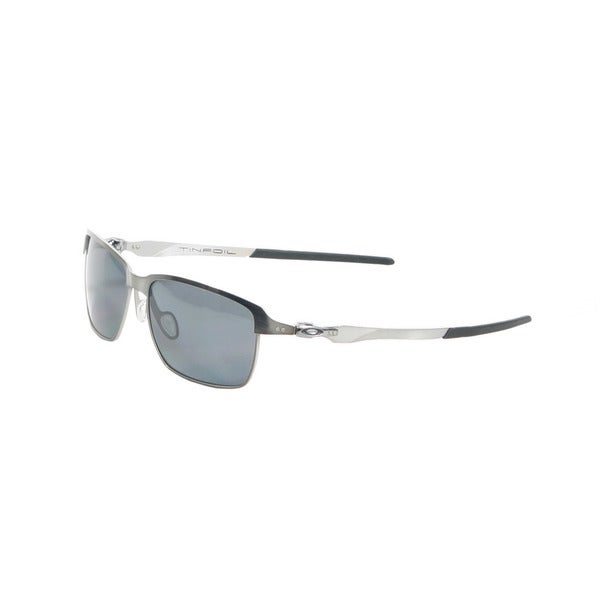 Oakley Brushed Chrome Tinfoil Sunglasses with Grey Polarized Lenses