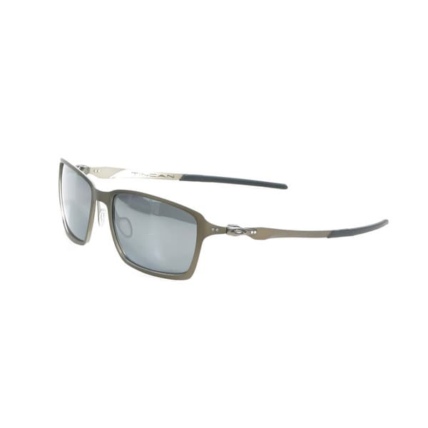 Oakley Pewter Tincan Sunglasses with Black Iridium Polarized Lenses