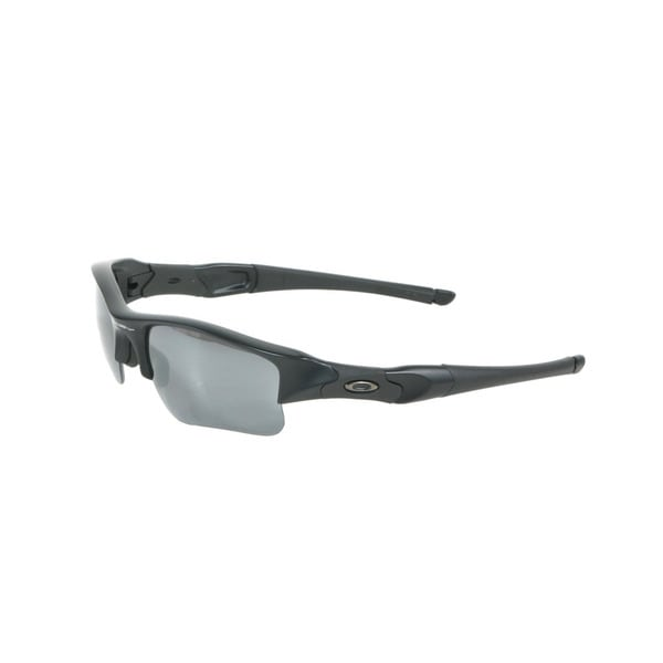 Oakley Matte Black Flak Jacket XLJ Sunglasses with Black Iridium Polarized Lenses
