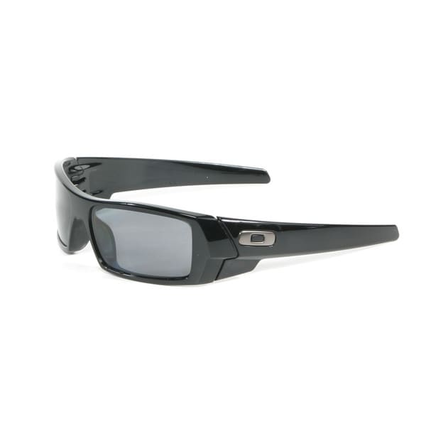 Oakley Polished Black Gascan Sunglasses with Grey Polarized Lenses