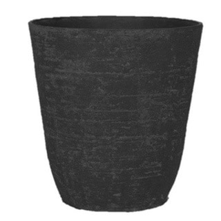 Stone Light Antique AT Series Cast Stone Black Planter