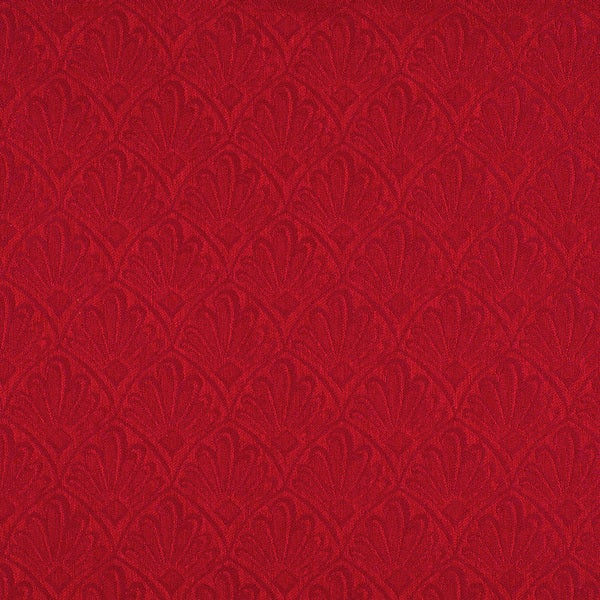 A122 Red Two Toned Fan Upholstery Fabric (By The Yard)