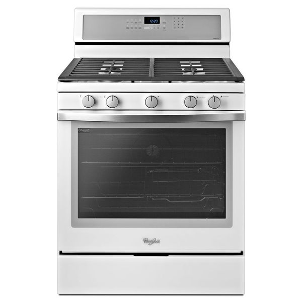 Whirlpool Gold White Ice Wfg710h0ah 30-inch Freestanding Gas Range