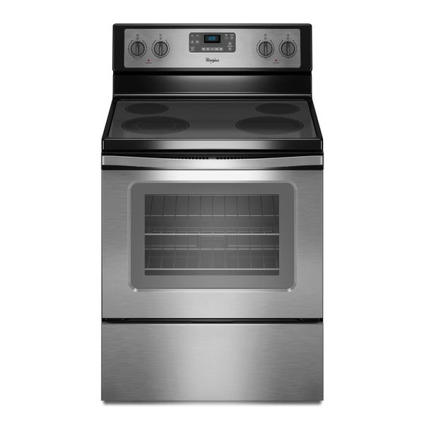 Whirlpool 5.3-cubic Feet Electric Range with Self-cleaning Oven in Stainless Steel