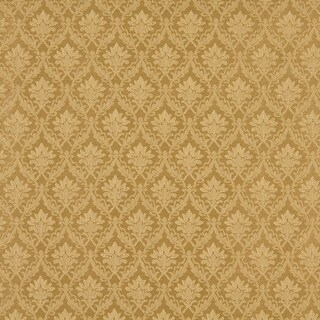 A146 Gold Foliage And Bouquets Upholstery Fabric (By The Yard)