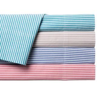 Oxford Stripe 100-percent Cotton Yarn Dyed Sheet Sets