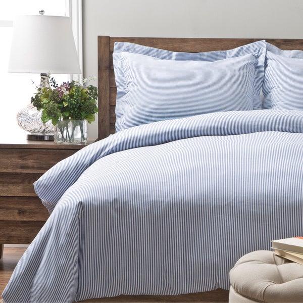 Oxford Stripe 100-percent Cotton Yarn Dyed Duvet Cover Sets