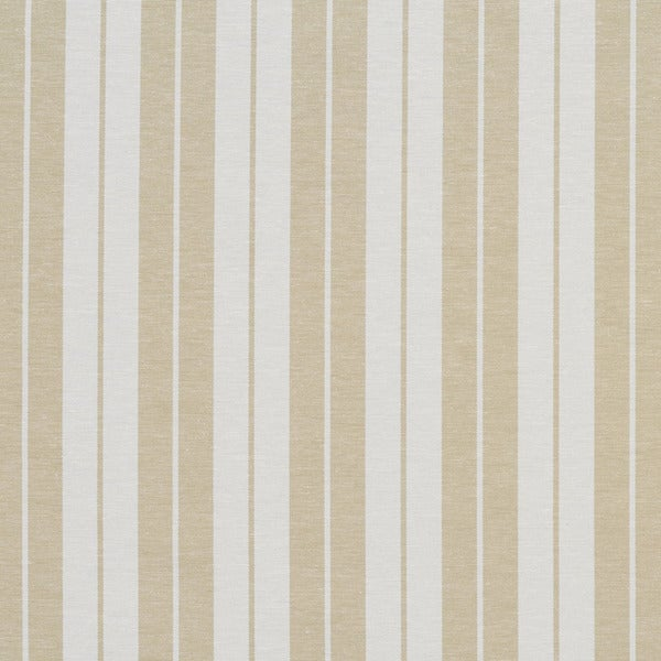 Khaki Beige and White Ticking Stripes Heavy Duty Upholstery Fabric by the Yard