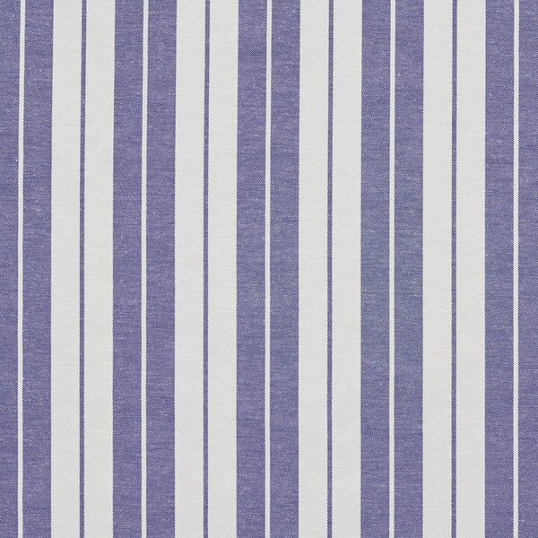 Denim Blue and White Ticking Stripes Heavy Duty Upholstery Fabric by the Yard
