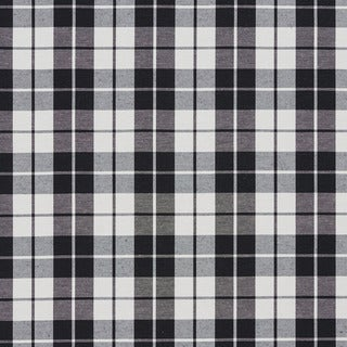 Black and White Plaid Cotton Heavy Duty Upholstery Fabric by the Yard