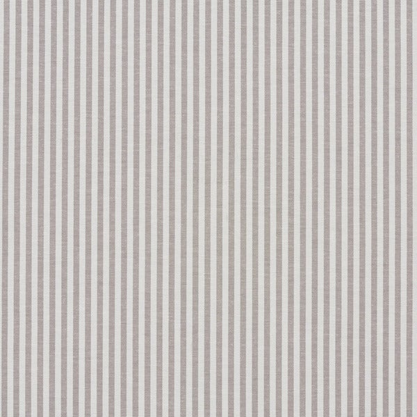 Taupe and White Ticking Stripes Cotton Heavy Duty Upholstery Fabric by the Yard