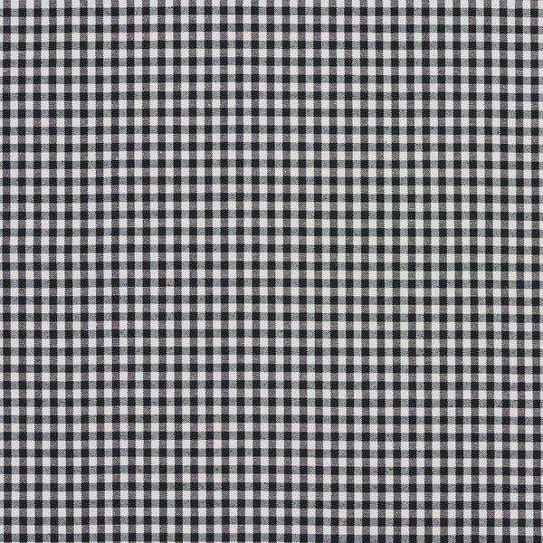 Black and White Small Gingham Cotton Heavy Duty Upholstery Fabric by the Yard