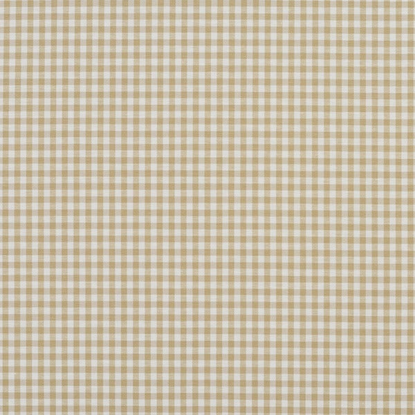 A551 Khaki Beige and White Small Gingham Cotton Upholstery Fabric by the Yard