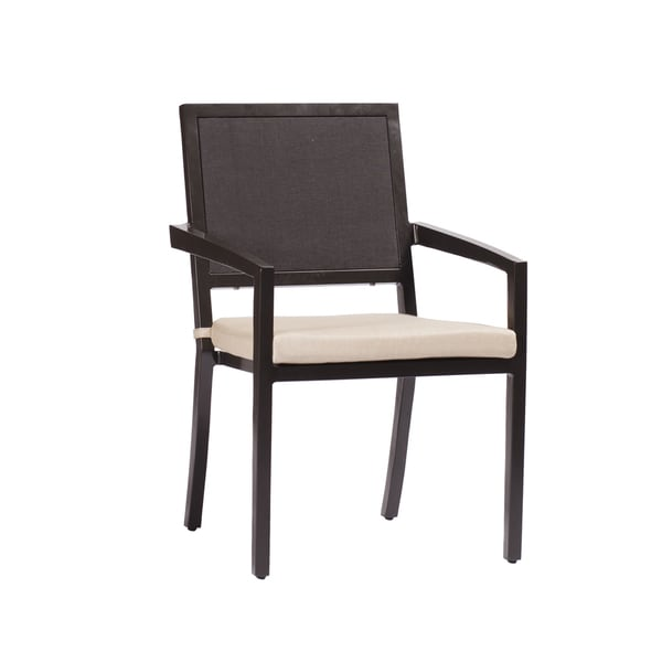 Aaron Black Aluminum Arm Chair