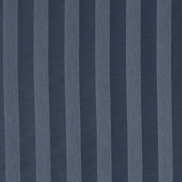 A461 Navy and Blue Two Toned Stripe Upholstery Fabric by the Yard