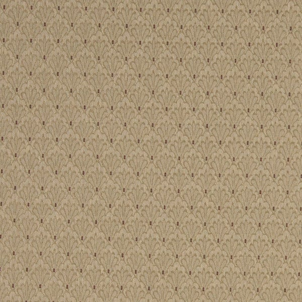 A428 Beige Shell Jacquard Upholstery Fabric by the Yard