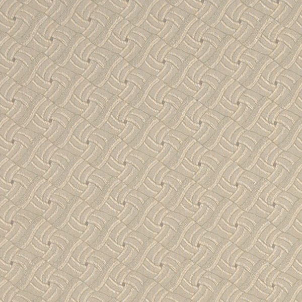 A426 Beige Wavy Check Jacquard Upholstery Fabric by the Yard