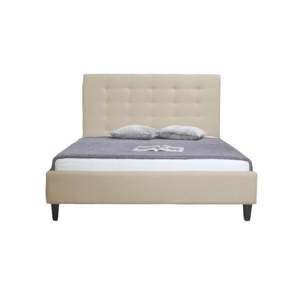 Milena Bed Cream White Fabric