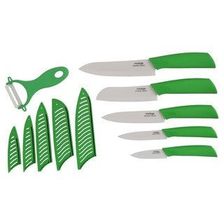 Melange 11-piece Lime Ceramic Knife Set