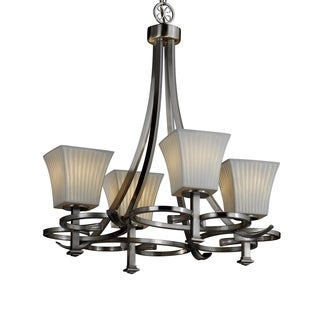 Justice Design Group Limoges-Arcadia 4-light Waterfall Chandelier