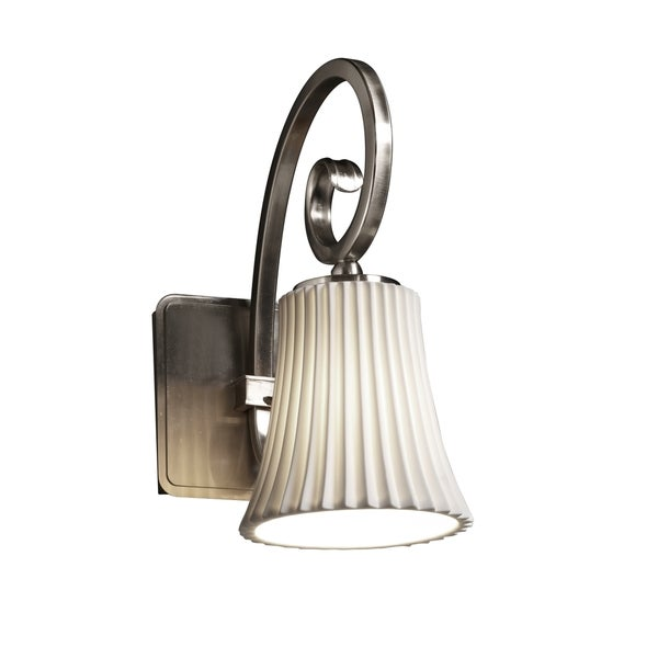 Justice Design Group Limoges-Victoria 1-light Pleats Wall Sconce 15672494
