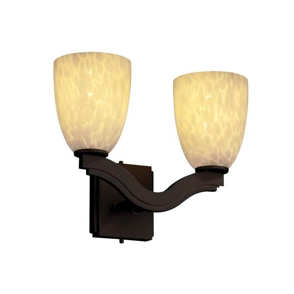 Justice Design Group Fusion-Bend 2-light Short Tapered Wall Sconce
