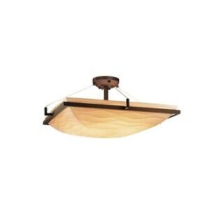 Justice Design Group Porcelina-Ring 3-light Semi-flush Mount