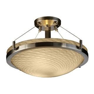 Justice Design Group Fusion-Ring 3-light Semi-flush Mount