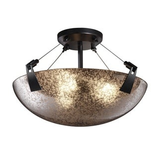 Justice Design Group Fusion-Tapered Clips 3-light Semi-flush Mount