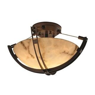 Justice Design Group LumenAria-Crossbar 2-light Semi-flush Mount