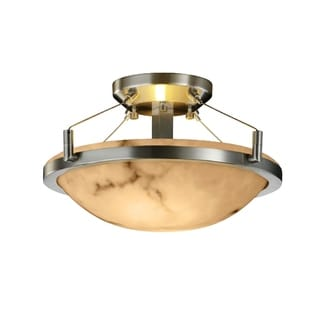 Justice Design Group LumenAria-Ring 2-light Large Semi-flush Mount