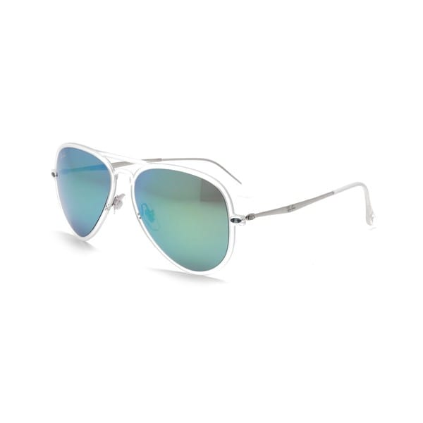 Ray Ban RB4211 Aviator Light Ray II Green Mirror Sunglasses