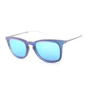 Ray-Ban Men's RB4221 Sunglasses Blue Light Green Mirror Blue