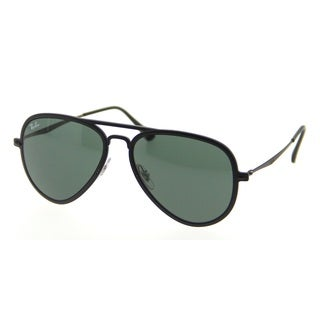 Ray-Ban RB4211 Tech Light Ray Aviator Sunglasses Matte Black Green