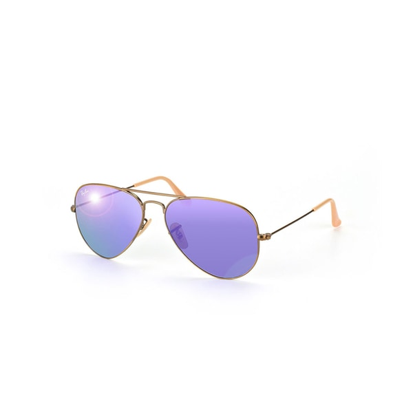 Ray-Ban RB3025 Sunglasses Bronze-Copper Frame Violet Mirror Lens