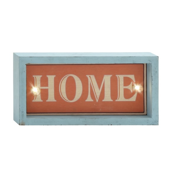 12-inch Home Turquoise/ Red Led Wall Sign