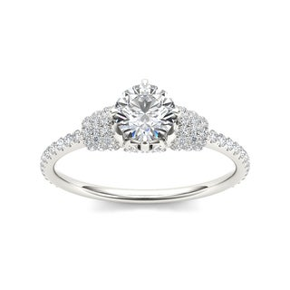 De Couer 14k White Gold 1ct TDW Diamond Glorious Engagement Ring (H-I, I2)