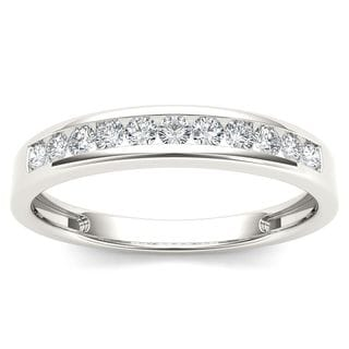 De Couer 14k White Gold 1/4ct TDW Diamond Wedding Band (H-I, I2)