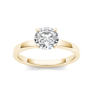 De Couer 14k Yellow Gold 1ct TDW Diamond Classic Engagement Ring (H-I, I2)