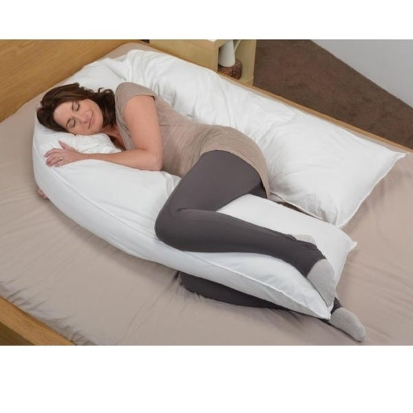 Cheer Collection Alternative Down Side Body Pillow