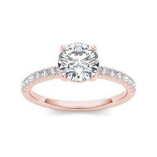 De Couer 14k Rose Gold 1 1/4ct TDW Diamond Classic Engagement Ring (H-I, I2)