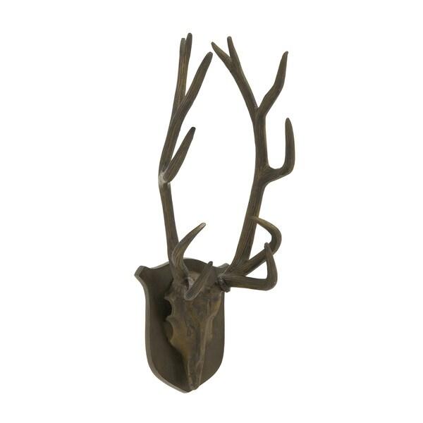 24-inch Aluminum Black Matte Antler Trophy Head