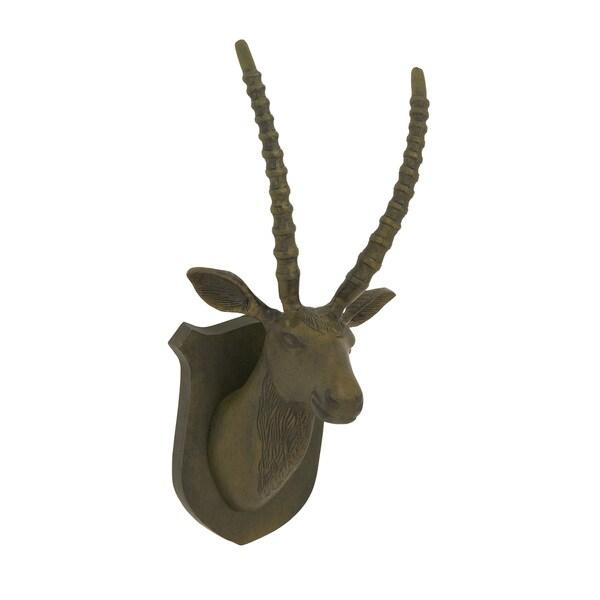 22-inch Aluminum Black Matte Gazelle Trophy Head