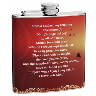 Top Shelf Flasks 6-ounce 'Mom's Smile' Hip Flask for Moms