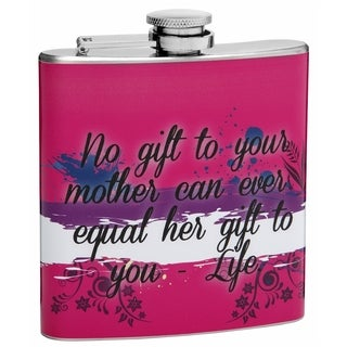 Top Shelf Flasks 6-ounce 'Gift of Life' Stainless Steel Hip Flask for Mom