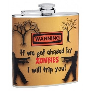 Top Shelf Flasks 6-ounce 'Chased by Zombies' Hip Flask