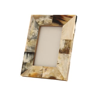 Khola Photo Frame in White Horn