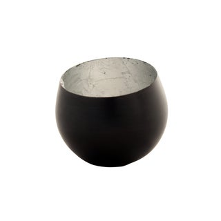 Copan Tilted Black/ Silver Tealight Holders
