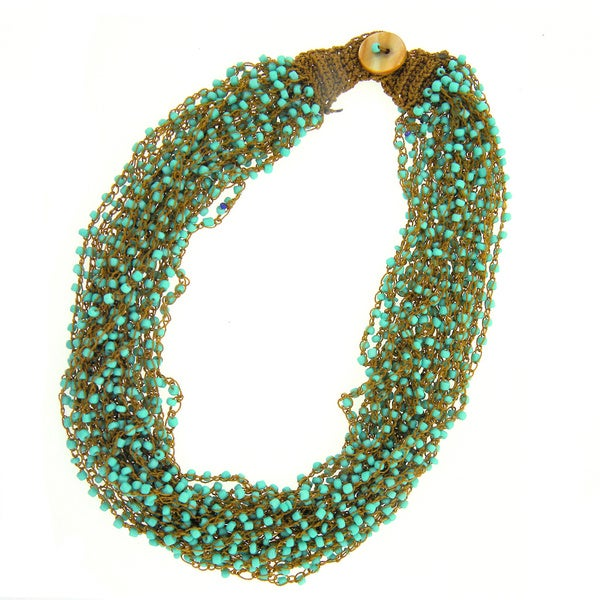 KC Signatures Multi Layered Bead Button Necklace