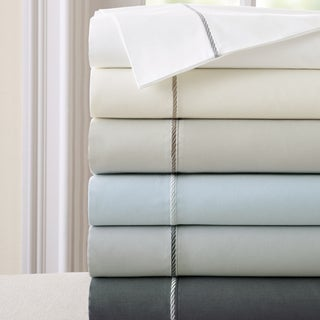 400 Thread Count 100-percent Cotton 4-piece Sheet Set with Rope Hemstiching